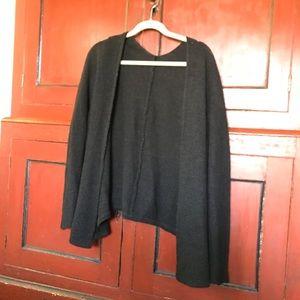 Brandy Melville Black Knit Open Sweater